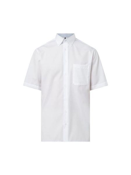 Biała koszula bawełniana krótki rękaw Eterna