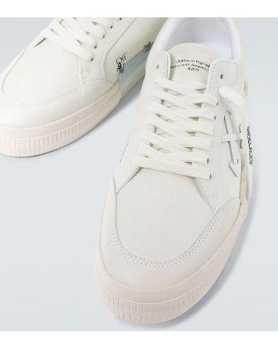 Со стрелками кожаные белые кроссовки Off-white