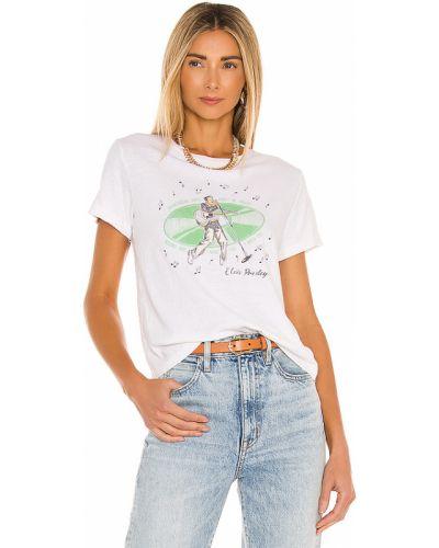 Biały bawełna t-shirt zabytkowe Re/done