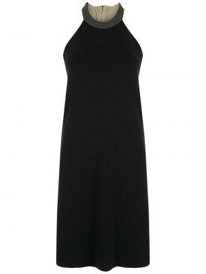 Платье в рубчик - черное Osklen