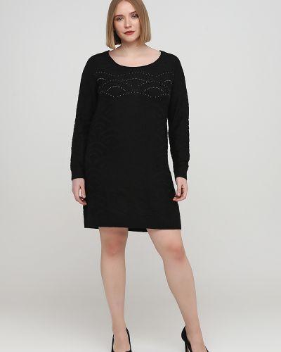 Вязаное черное платье со стразами Kookai