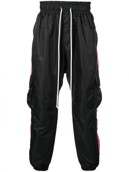 Prążkowane czarne spodnie ciążowe Daniel Patrick