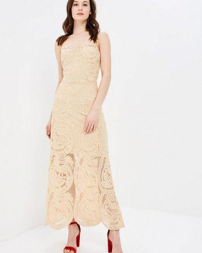 Бежевое платье Silvian Heach