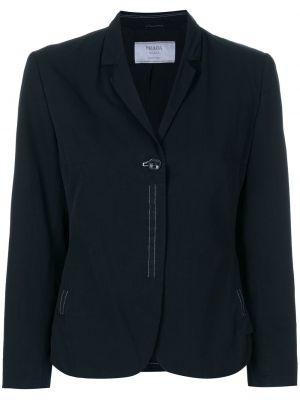 Черный классический пиджак винтажный с подстежкой Prada Pre-owned