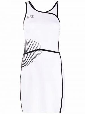 Белое платье с логотипом Ea7 Emporio Armani