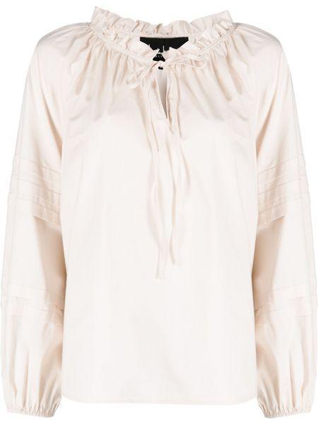 Прямая хлопковая блузка с воротником Nicole Miller