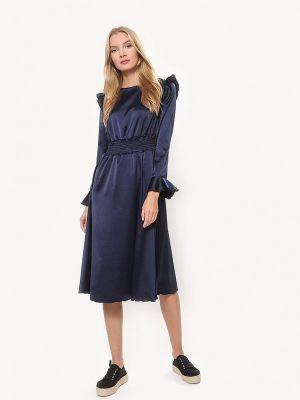Платье осеннее синее Tutto Bene