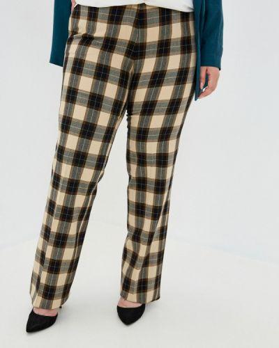Бежевые прямые брюки Trussardi Collection