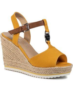 Sandały espadryle - żółte Tom Tailor