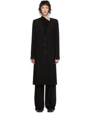 Длинное пальто без воротника на кнопках Ann Demeulemeester