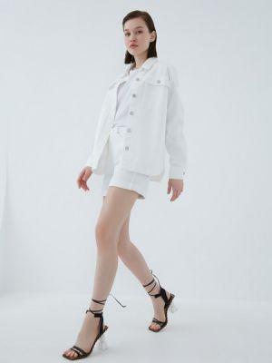 Хлопковая белая джинсовая рубашка Zarina