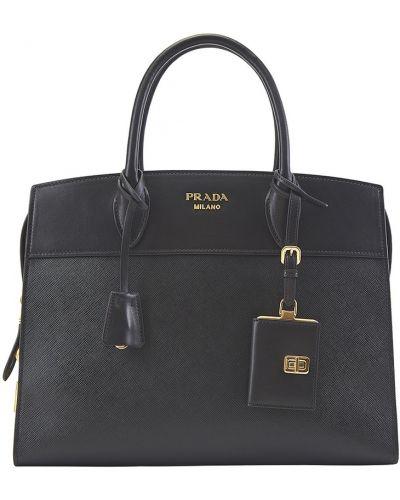 Сумка-тоут кожаный с логотипом Prada