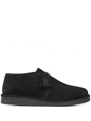 Черные ботинки на шнуровке круглые Clarks Originals