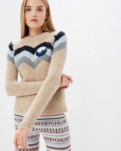 Бежевый свитер осенний See By Chloe