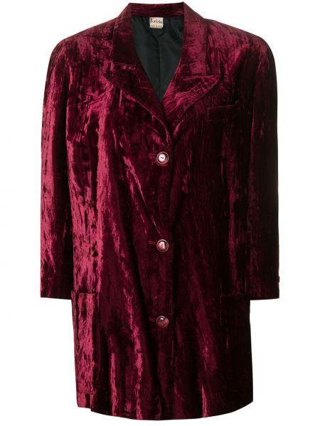 Прямое розовое пальто классическое с капюшоном Krizia Pre-owned