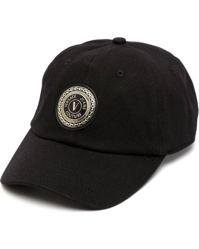Джинсовая кепка - черная Versace Jeans Couture