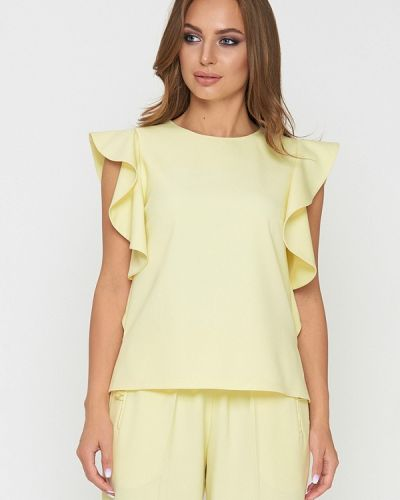 Блузка с рюшами желтый Sellin