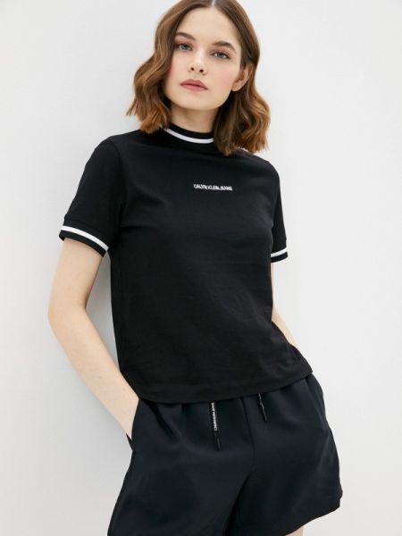 Поло футбольный черное Calvin Klein Jeans