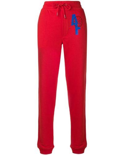 Красные спортивные брюки с поясом с заплатками A.f.vandevorst