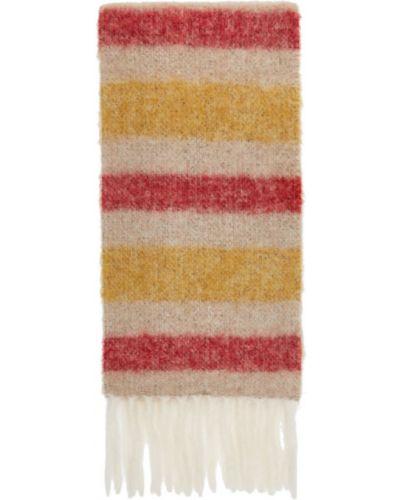Шерстяной белый шарф в полоску Acne Studios
