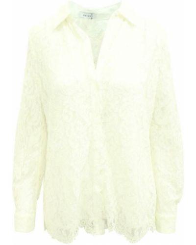 Biała koszulka koronkowa Reiss
