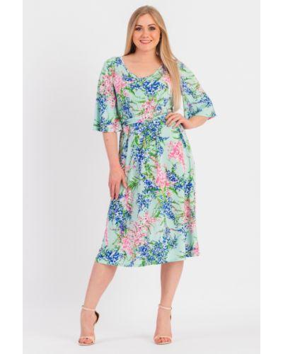 Платье с поясом розовое с V-образным вырезом Lacywear
