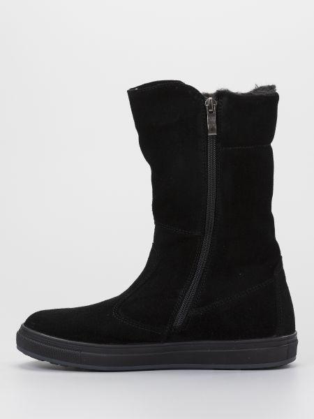 Черные замшевые сапоги на плоской подошве Braska-мальви