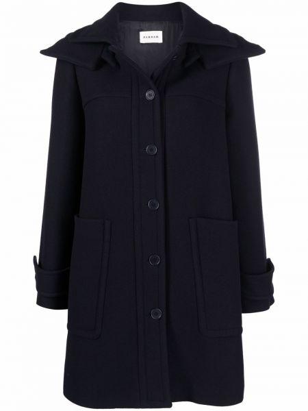 Шерстяное пальто - синее P.a.r.o.s.h.