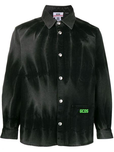 Koszula z długim rękawem dżinsowa wyposażone Gcds