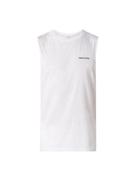 Bawełna bawełna biały top z dekoltem Calvin Klein Underwear
