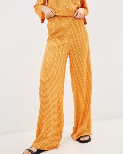 Оранжевые брюки осенние Lorani