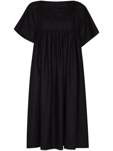 Czarna sukienka z jedwabiu Baserange