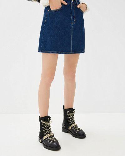 Джинсовая юбка синяя турецкий French Connection
