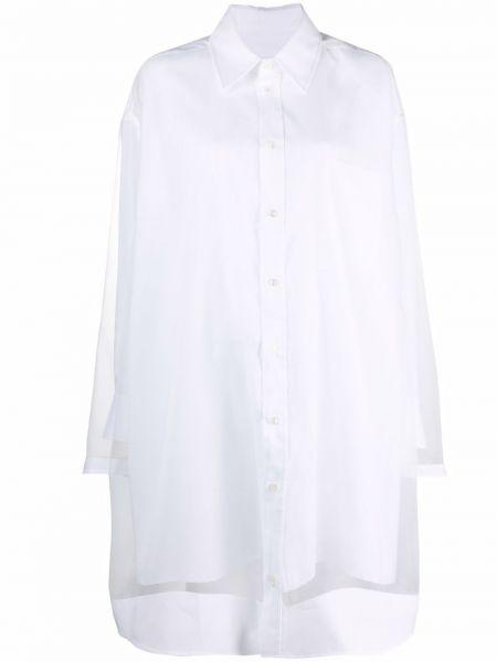 Платье макси с длинными рукавами - белое Maison Margiela