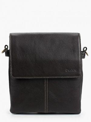 Коричневая кожаная сумка Duffy