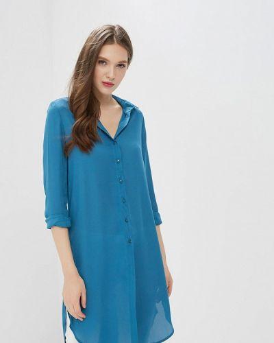 Бирюзовое платье рубашка Modis