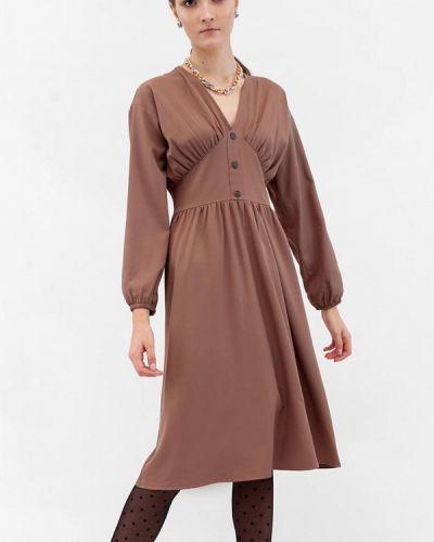 Коричневое прямое платье Dorogobogato