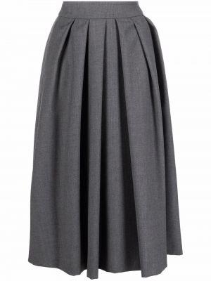 Шерстяная юбка макси - серая Lautre Chose