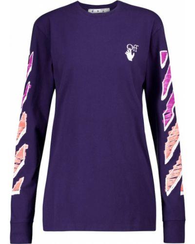 Bawełna fioletowy bawełna koszula Off-white