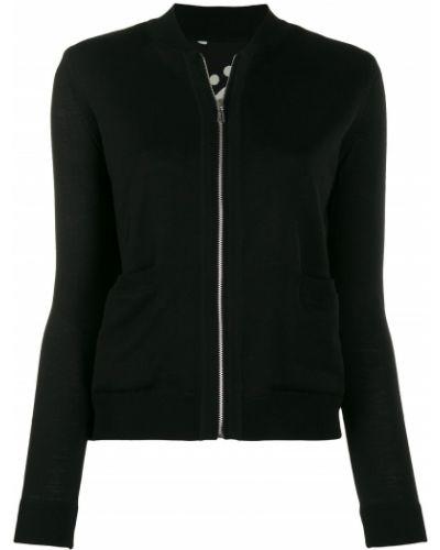 Сатиновая черная длинная куртка Ps Paul Smith