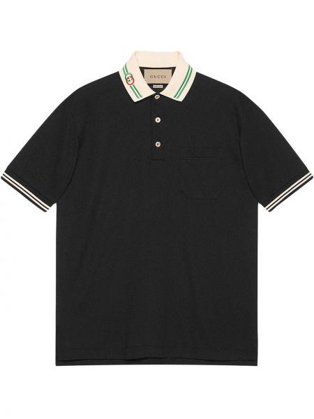 Koszula krótki rękaw - czarna Gucci