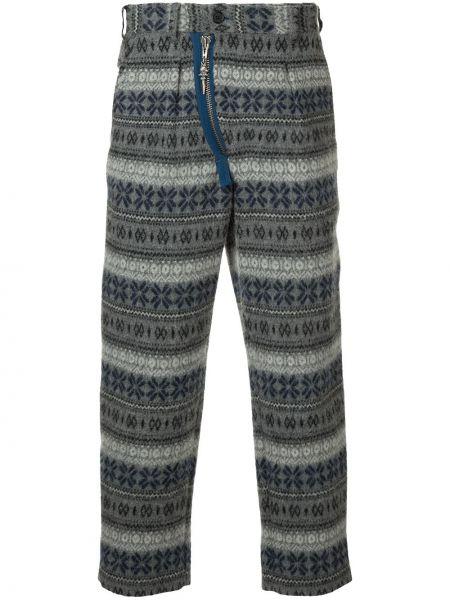 Серые нейлоновые брюки винтажные Yohji Yamamoto Pre-owned