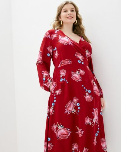 Красное платье с запахом Svesta
