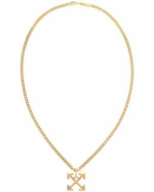 Naszyjnik biały ze złota Off-white