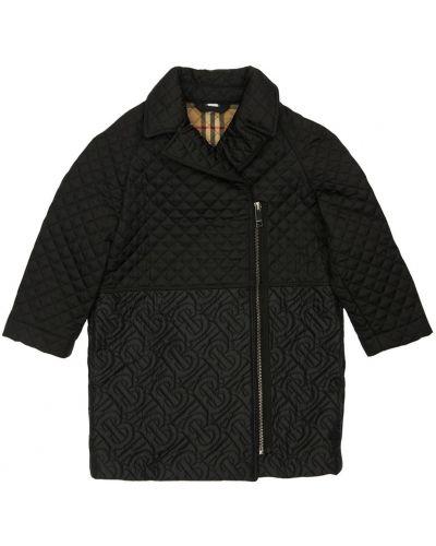 Nylon czarny pikowana płaszcz Burberry