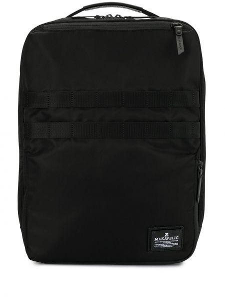 Нейлоновый черный рюкзак с карманами на молнии Makavelic