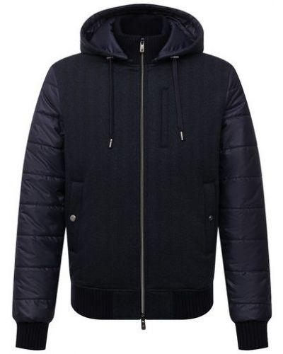 Синяя куртка из полиуретана Capobianco