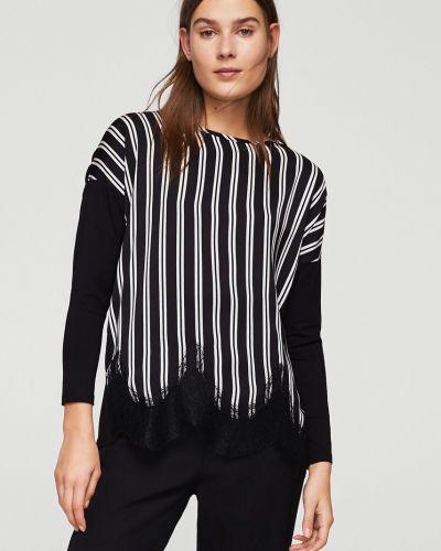 Черная блузка прямая Mango