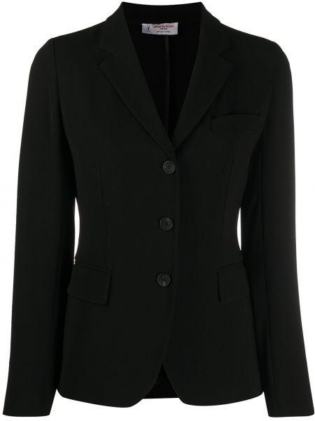 Однобортный черный пиджак с карманами Alberto Biani