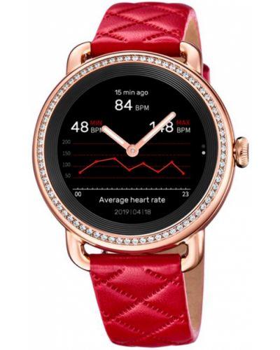 Czerwony złoty zegarek sportowy Festina